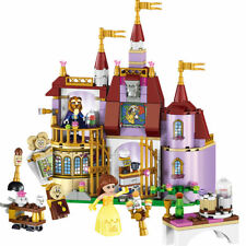 Beauty and The Beast Princess Castle Building Blocks Educational Kids Toys Gift