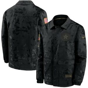 2020 Dallas Cowboys Nike Black Men's Salute To Service Sideline Jacket Authentic