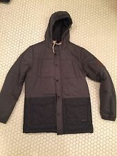 Quiksilver Men's Puffy Jacket - Gray and Black - Size M