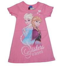 Kleid Nachthemd Nachtkleid rosa Frozen Die Eiskönigin Olaf Anna Elsa Gr. 104-140