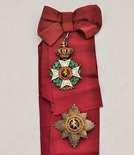 Belgique: Ordre de Léopold, ensemble de grand croix