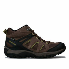Para Hombre Merrell outmost Vent Mid Gtx Botas en marrón gamuza y malla impermeable