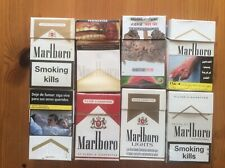 8 ASSORTED MARLBORO CIGARETTE FROM VARIOUS COUNTRIES EMPTY