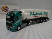 """Herpa 307086 - Volvo FH GL Silo-Sattelzug """" Kleinwächter """" in grün 1:87 NEU"""