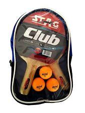 Table Tennis Sports Play Set- 2 Racquets / Bats and 3 Balls- Club