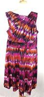 Calvin Klein Dress Size 22W Sleeveless Asymmetric Neckline Pockets