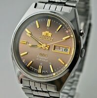 VINTAGE ORIENT CRYSTAL AAA AUTOMATIC 3 STAR DAY & DATE MEN'S WRIST WATCH