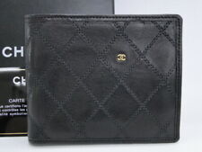 CHANEL CC Wallet Bifold Card Case Quilted Lambskin Black France 16160729300 2