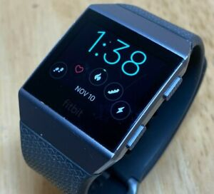 Fitbit Ionic FB503 Silver Gray Fitness Watch Hours Activity Tracker Smartwatch