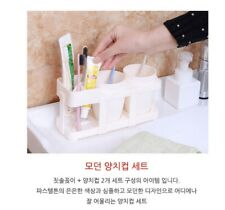 Modern Tooth Brush Cup Set (Multi Stand & 2Ea Cup) Random Color(3Colors) Useful