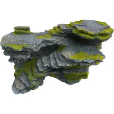 Large Rock With Moss Aquarium Ornament, Artificial Fish Tank Decoration
