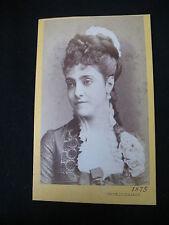 PHOTO CDV CARD ANCIENNE OPERA SINGER ADELINA PATTI CANTATRICE 1875 ITALY ITALIE
