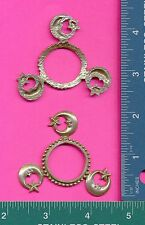 lead free pewter 3 leg moon star stand for stone or tealight candle B2068