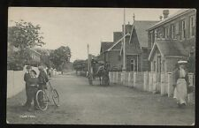 Suffolk CORTON early PPC children and bicycle