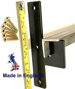 Security Door Bar Brackets Pair 4.0mm Thick Steel BARRICADE BRACKETS Angle Iron