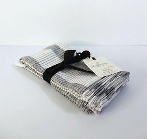 Hearth & Hand with Magnolia 4-Pack Bold Stripes Cloth Napkin - Gray & White