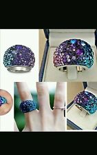 authentic swarovski purple chic ring.. SIZE 58
