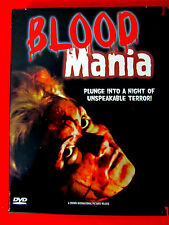 Blood Mania DVD OOP Maria De Aragon Vicki Peters Crown International Rhino Video