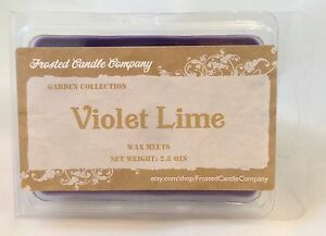 Violet Lime 2.5oz Soy Wax Melts Scent Fresh Floral Spring One Package