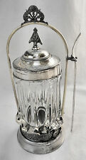 GORGEOUS!! Atq CROWN S.P. MFG CO #632 Slv Plated Victorian Pickle Caster Set
