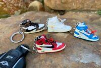Nike Off-White Air Jordan, Yeezy 350 boost, Air Jordan 3D Sneaker Key ring chain