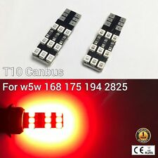 T10 194 168 2825 12961 License Plate Light Red 18 Canbus LED M1 For Chevrolet