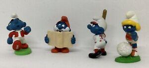 Smurfs - Rare Set of 4 Silan Promo Smurf Bully Peyo Schleich