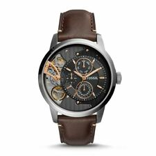Fossil ME1163 Twist Multifunction Dark Brown Leather Men's Watch 5 ATM RRP $349