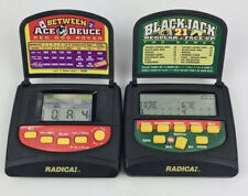 Radica Electronic Handheld BLACKJACK 21 & Between Ace Deuce Red Dog Poker Games