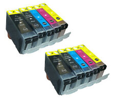 SET 10 cartuchos gen compatible NONOEM con Chip Canon PIXMA IP4950 IP 4950 HQLTY