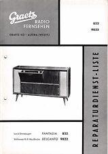 Service Manual-Anleitung für Graetz Fantasia 822,Belcanto 9822