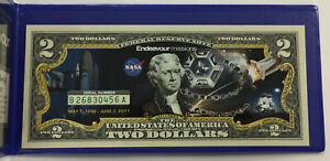 $2 Colorized Commemorative Federal Reserve Note ~  Endeavour