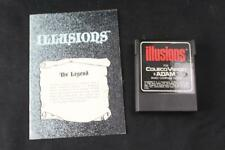 Illusions 1984 ColecoVision / Adam Game Cartridge & Instruction Manual - EX/NM!