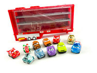 Disney's Cars Mack Truck Transporter Semi Trailer With Mini Racer Cars