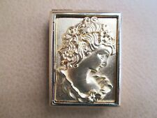 New listing Estee Lauder Solid Perfume Compact ~ 2000 Cameo Portrait Profile ~ Gold Tone