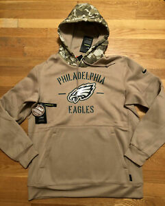 Nike Philadelphia Eagles Salute To Service Hoodie Beige AT6744-297 Men's Sizes