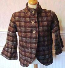 Button Wool Blend Check NEXT Coats & Jackets for Women