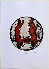 NORBERT TADEUSZ - ARTISTEN II - Siebdruck über Digitaldruck - signiert