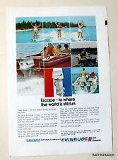 Evinrude 65hp Triumph  Outboard Motor / Skiers 1972 Magazine Print Ad 10 x 7