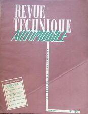 Revue technique CITROEN DS 19 2ème partie RTA 134 de 1957
