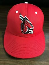 Ball State Red Cardinals Indiana Fitted Baseball Hat Cap The Game 7-1/8 Medium