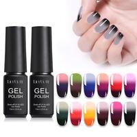 7ml LILYCUTE Color Changing Thermal 3-layers UV Gel Nail Polish Soak Off Nails