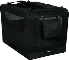 AmazonBasics Premium Folding Portable Soft Pet Crate BLACK 53cm New & Boxed
