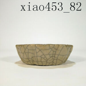 antique Chinese Porcelain Song dynasty Brother kiln Yellow glaze Begonia wash