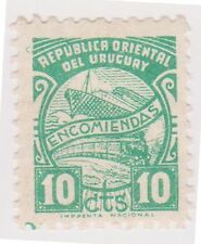 (UGA-169) 1902 Uruguay 10c green parcel post (brown gum) (S)