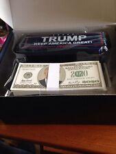 Trump 2020 President Paper Money Gun America USA Election Blue Red White Train