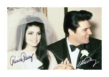 More details for elvis & priscilla presley wedding a4 reproduction poster and choice of frame