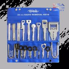 38pc Radio Removal Keys Kit carrying case foreign factory domestic car stereo