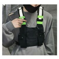 Reflective Tactical Front Chest Rig Bag Outdoor Sport Leisure Hiking Daypack