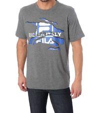 tee-shirt manches courtes FILA gris imprimé taille L - neuf